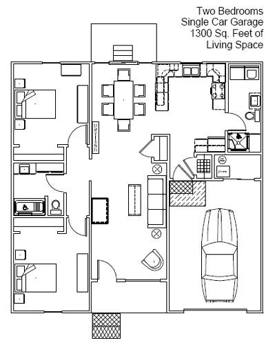 two bedroom senior residence